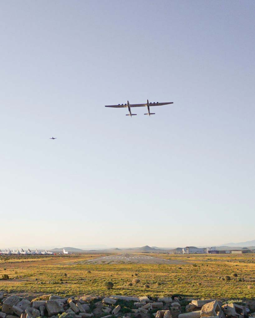 The Stratolaunch can store up three Pegasus XL rockets.