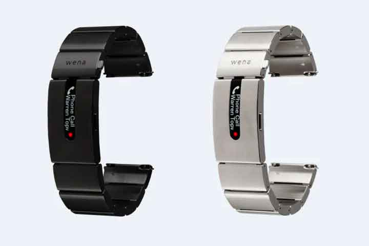 The straps are designed to fit onto your watch. Image via Sony