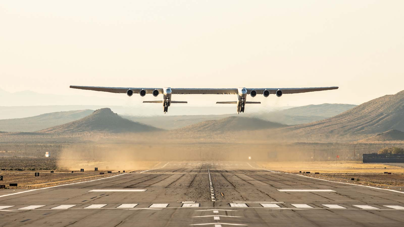 The Stratolaunch is built to launch rockets into space.