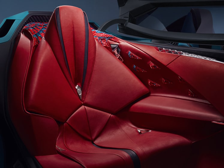 The image shows the passenger area inside the super car. Image via DS