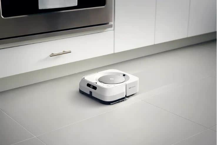 The Braava jet m6 has a 500 ml water tank. Image via iRobot