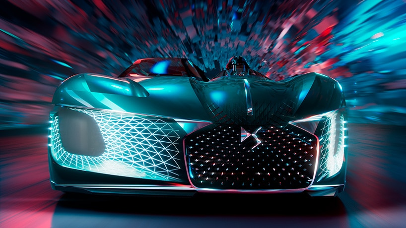 The frontal view of the DS X-Tense supercar. Image via DS