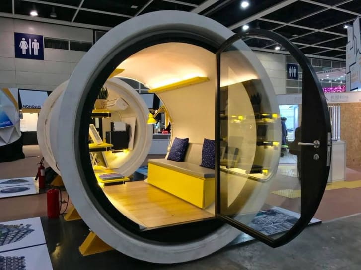 The Opod tube house design created by James Law Cybertecture. Image via James Law Cybertecture