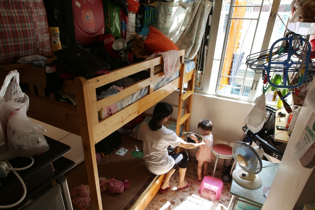 An example of an cubicle apartment in Hong Kong. Image via Edward Wong/SCMP