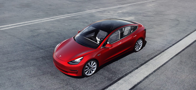 Model 3 Red by Tesla