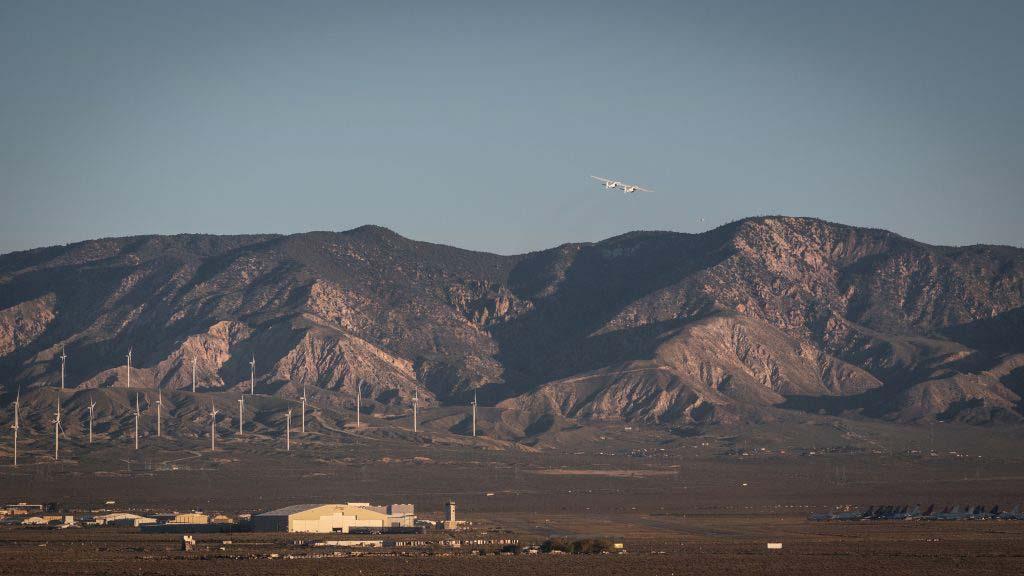 Stratolaunch's first flight was across California's Mojave Desert.