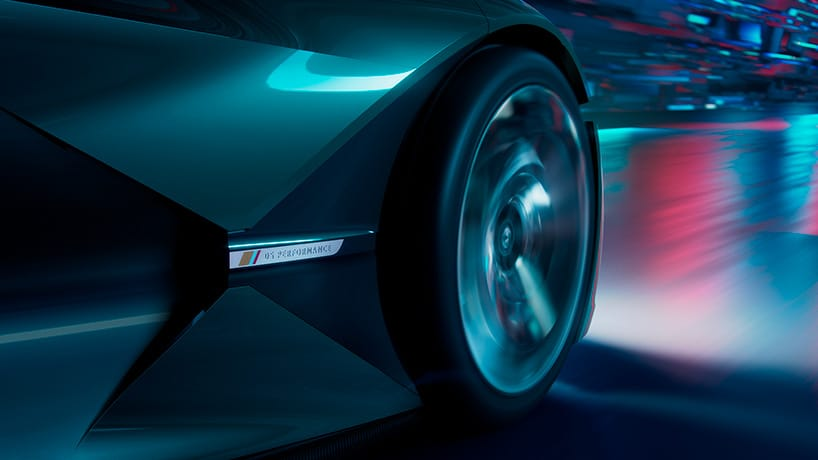 The DS X E-Tense is a front-wheel drive with power output directed to both front wheels. Image via DS