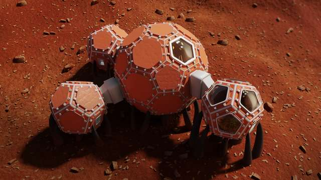 The interconnected pods could house a team of astronauts. Image via NASA