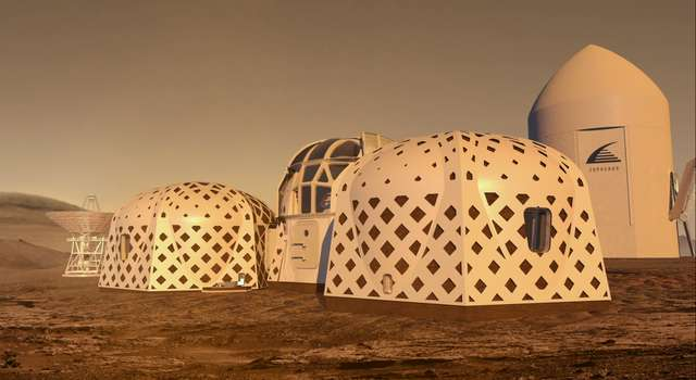 The image shows the autonomous rovers by team Zopherus in the wasteland.