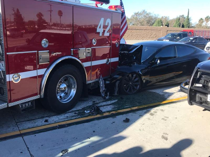 Tesla Crash via culver city
